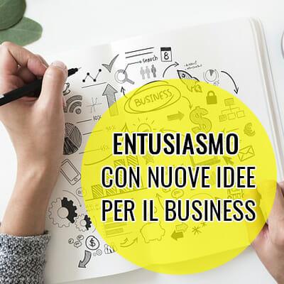 Entusiasmo con nuove idee per il business